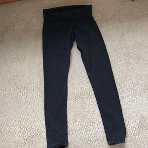 Aerie foldover leggings black size sm
